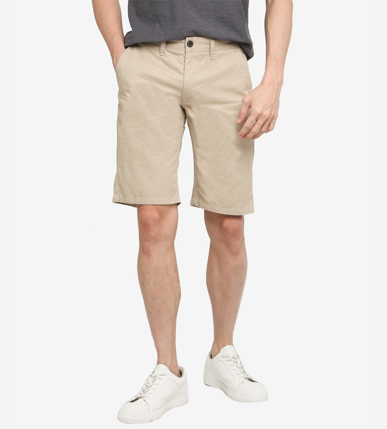 aout SG Singapore Casual Chino Shorts Designer Local Fashion Label Aout Zalora Asia Beige
