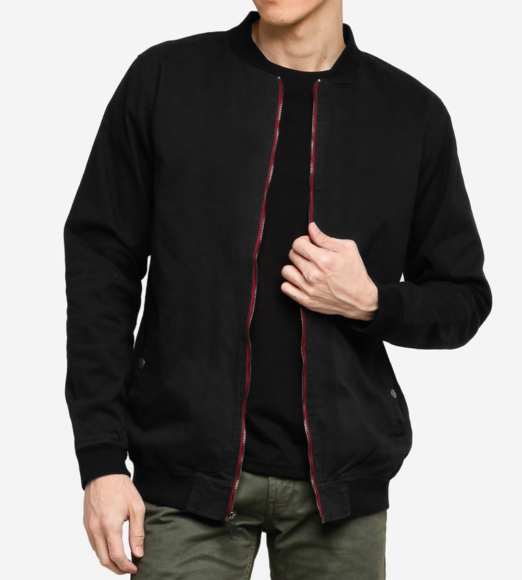 aout singapore sg fashion black bomber jacket