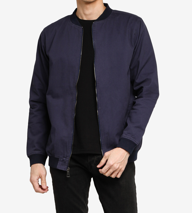 SG Singapore Classic Bomber Jacket in Navy