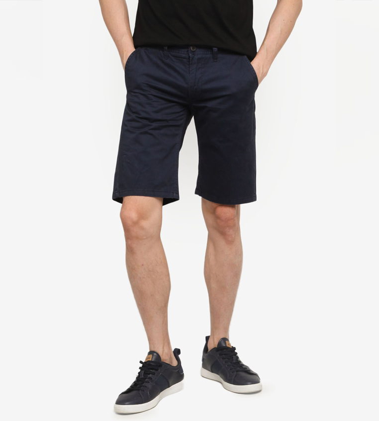 SG Singapore Casual Chino Shorts Designer Local Fashion Label Aout Zalora Asia Navy