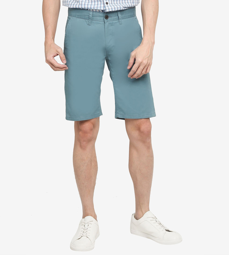 SG Singapore Casual Chino Shorts Designer Local Fashion Label Aout Zalora Asia Blue
