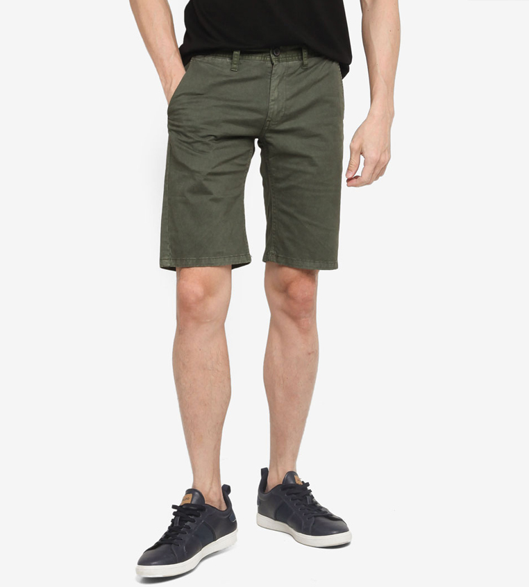 SG Singapore Casual Chino Shorts Designer Local Fashion Label Aout Zalora Asia Olive