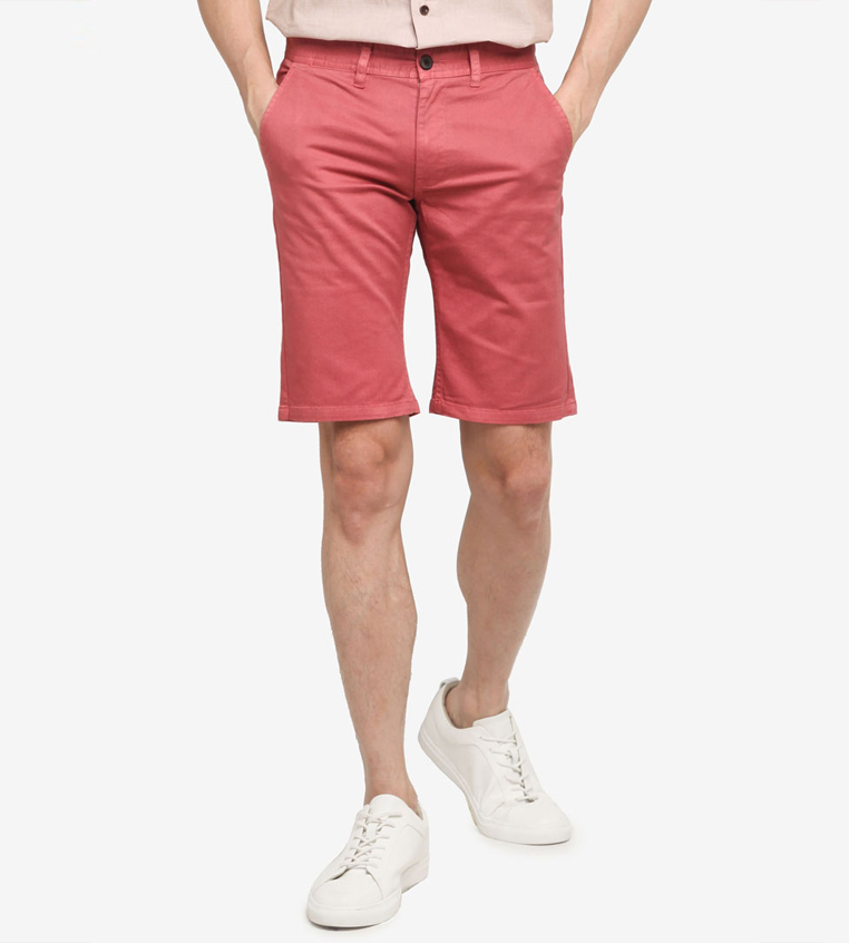 SG Singapore Casual Chino Shorts Designer Local Fashion Label Aout Zalora Asia Pink Mens